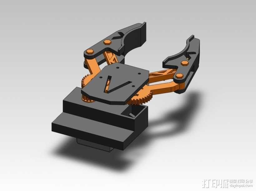 臂抓 3D模型  图1
