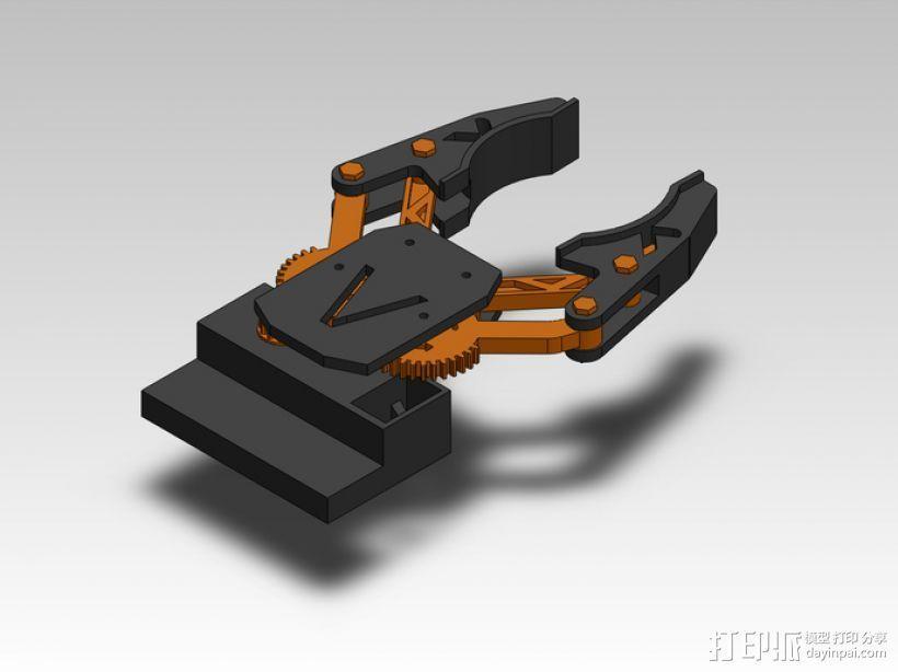 臂抓 3D模型  图2