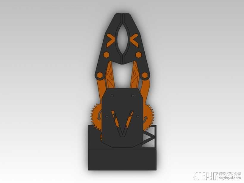 臂抓 3D模型  图4