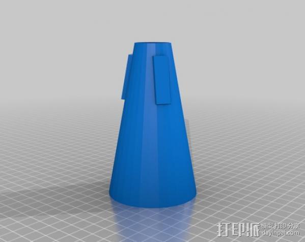 喇叭静音器 3D模型  图1