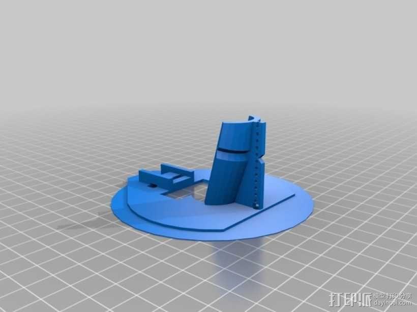 电动绘笔笔座 3D模型  图1