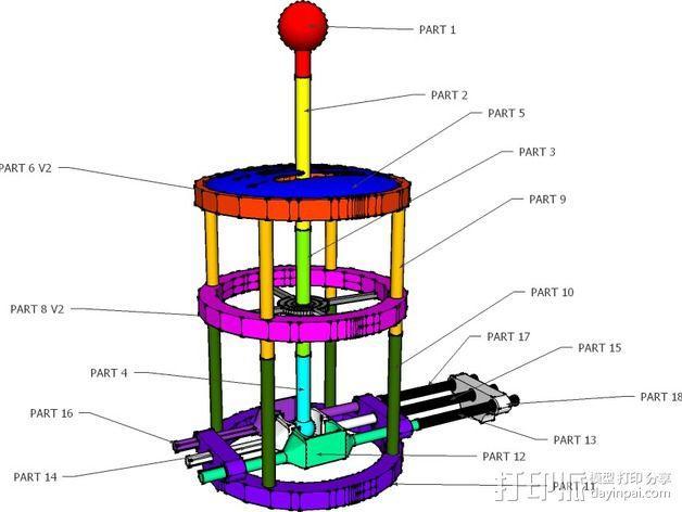 变速杆 3D模型  图2