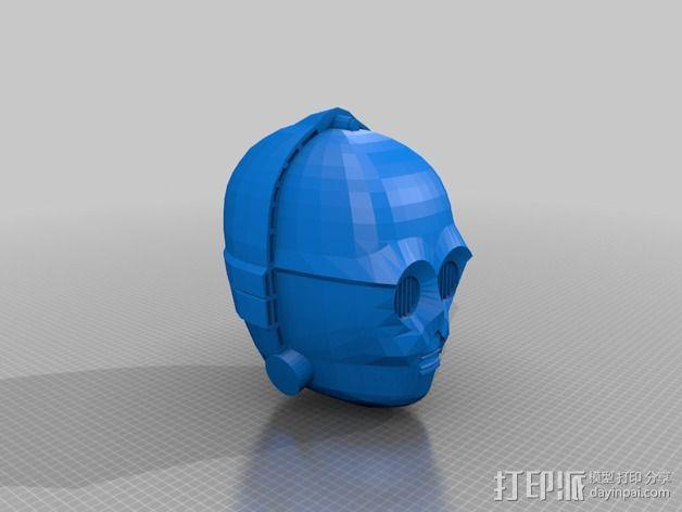 C3Po 头部模型 3D模型  图1