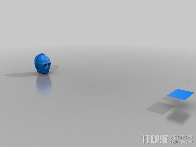 C3Po 头部模型 3D模型  图2