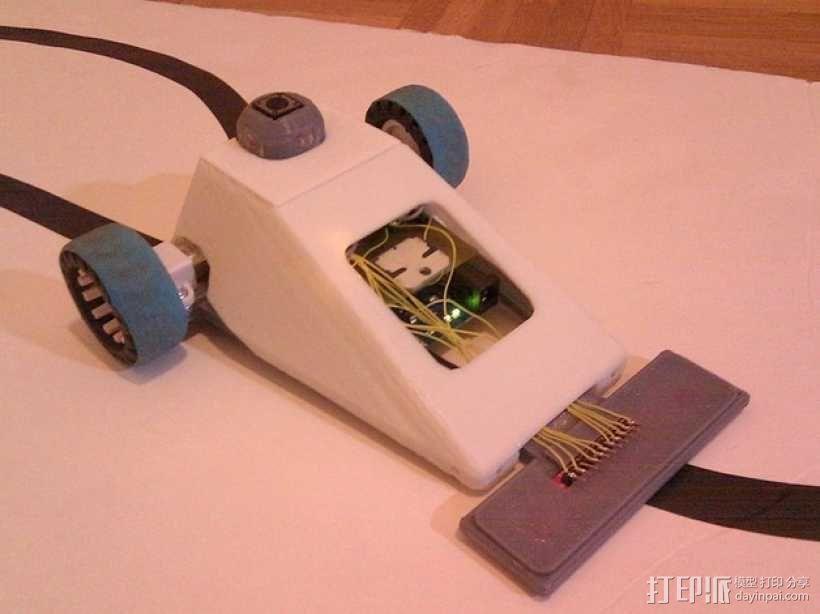 Vector-9000,一个快速线条跟踪机器人 3D模型  图1