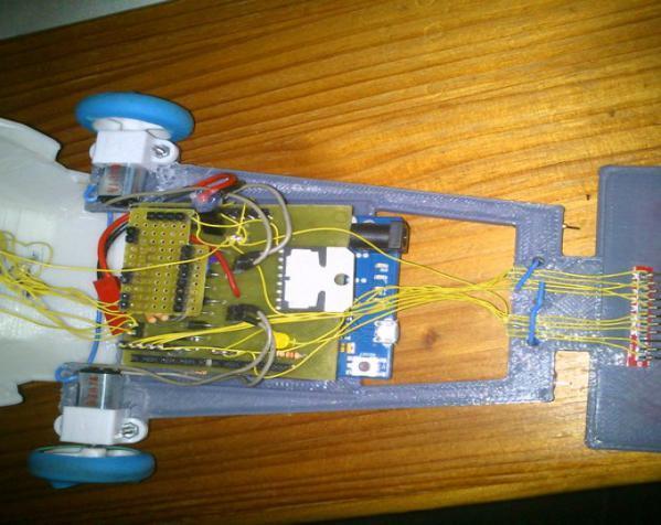 Vector-9000,一个快速线条跟踪机器人 3D模型  图6