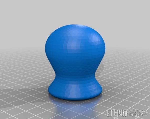 齿轮旋钮 3D模型  图2