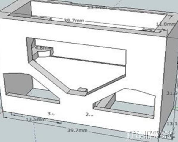 电气盒 3D模型  图2
