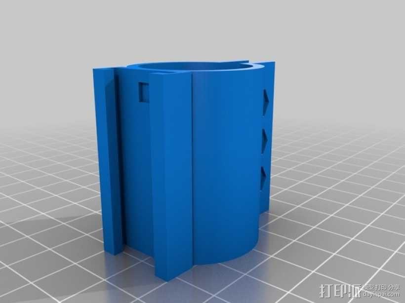 手电筒车架 3D模型  图5