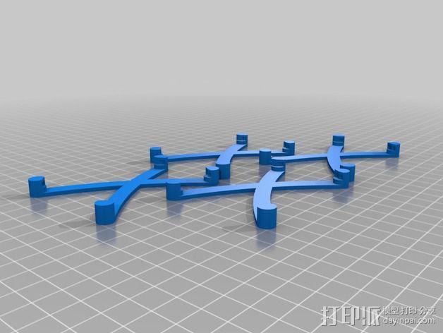 芯片固定架 3D模型  图2
