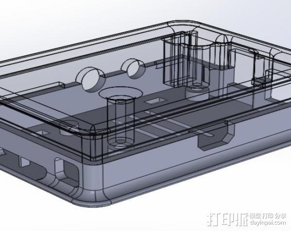 盖子 3D模型  图2