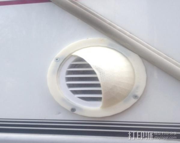 活动房屋排气罩 3D模型  图1