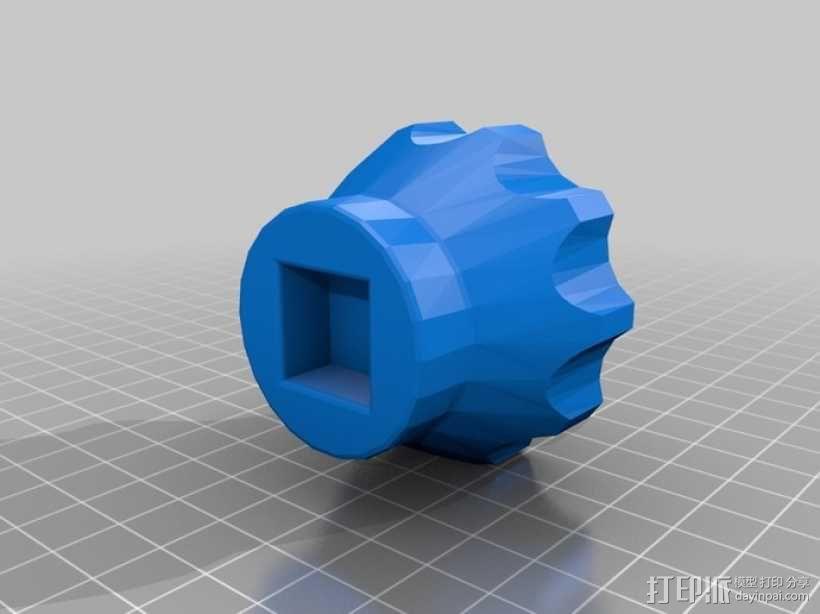多边形塞子 3D模型  图2