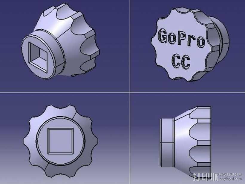 多边形塞子 3D模型  图1
