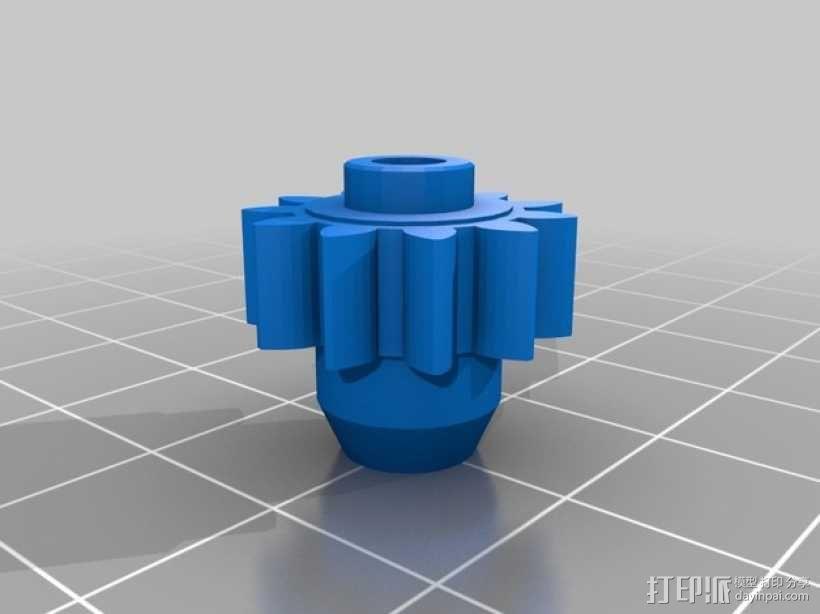 手腕形齿轮 3D模型  图1