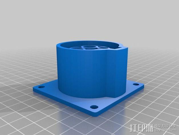 J1772入口 3D模型  图2