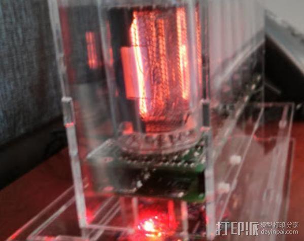 激光切割数字时钟 3D模型  图2