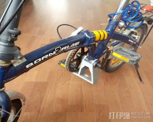 折叠自行车底座 3D模型  图2