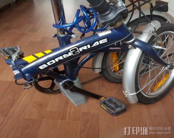 折叠自行车底座 3D模型  图4