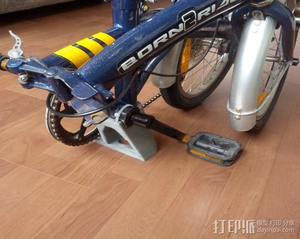 折叠自行车底座 3D模型  图3