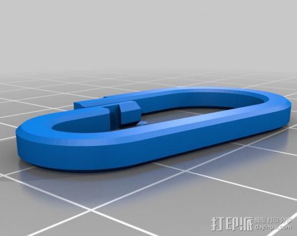 奥迪车钥匙链 3D模型  图2