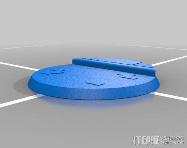 40mm底座 3D模型  图3