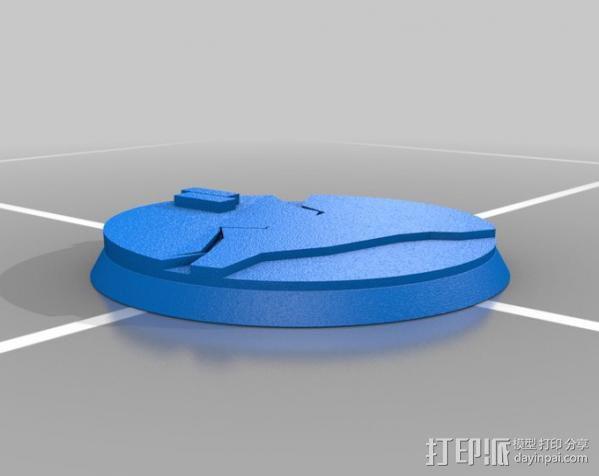 40mm底座 3D模型  图5
