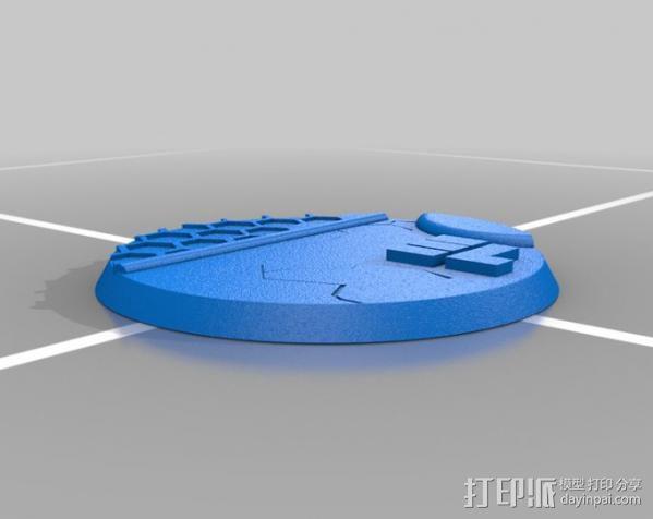 40mm底座 3D模型  图4