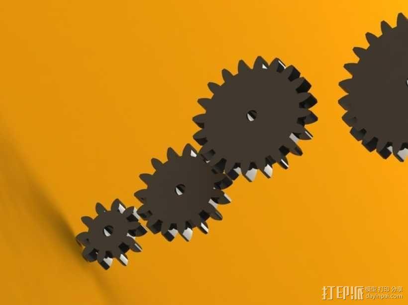 齿轮 3D模型  图1