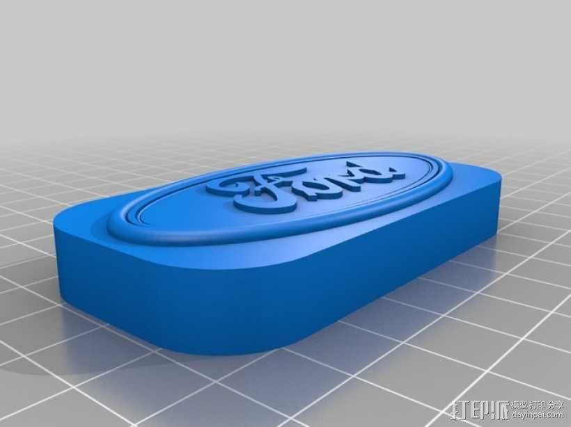 福特汽车标志 3D模型  图1