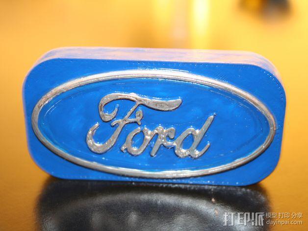 福特汽车标志 3D模型  图3