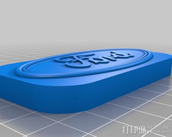 福特汽车标志 3D模型  图2