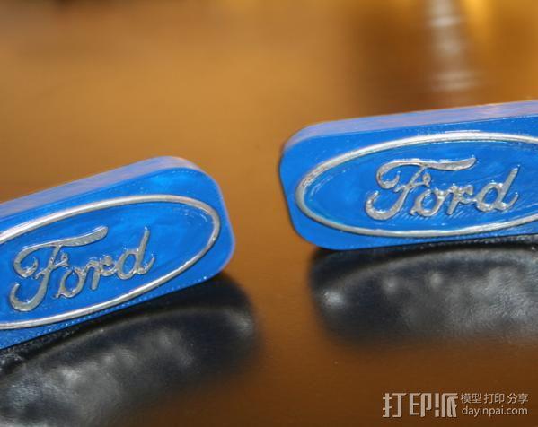 福特汽车标志 3D模型  图4