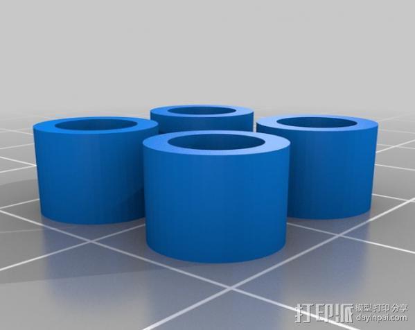 10X5垫片 3D模型  图1