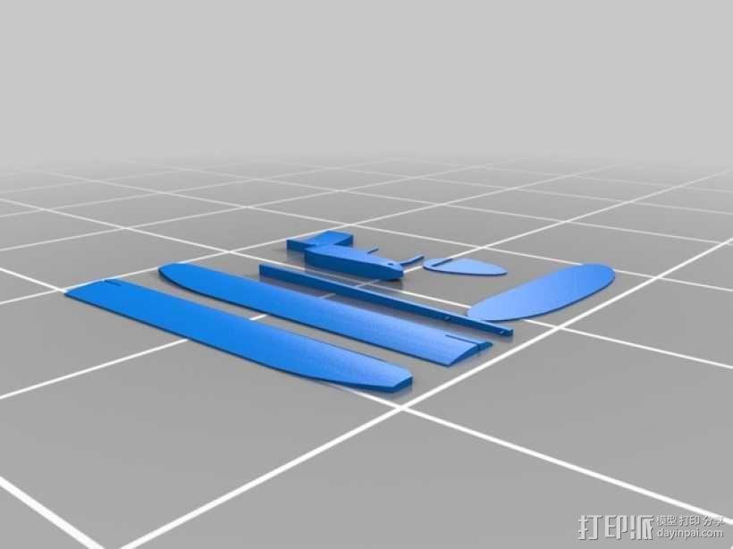 滑翔机 3D模型  图1