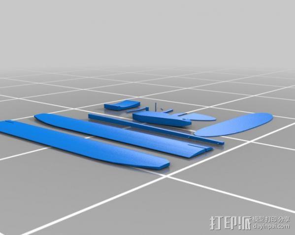 滑翔机 3D模型  图3