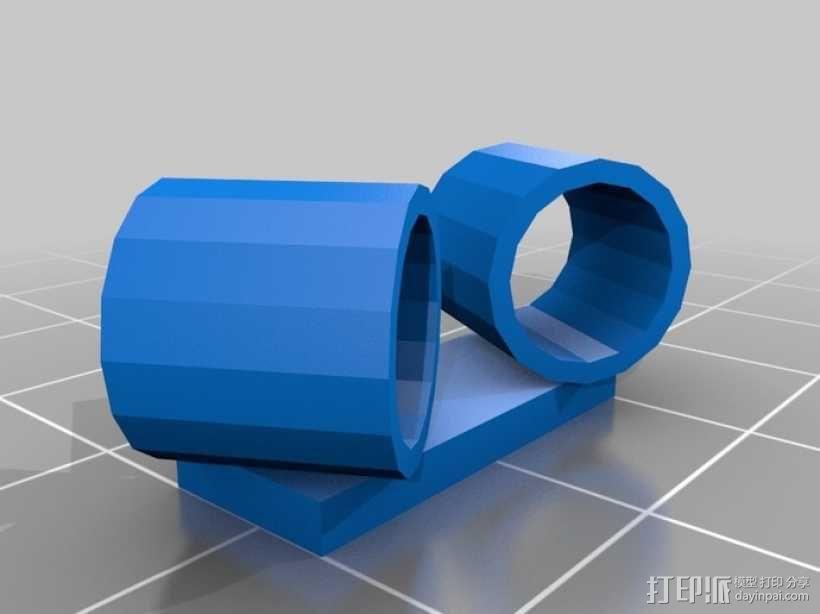 电话机座 3D模型  图1