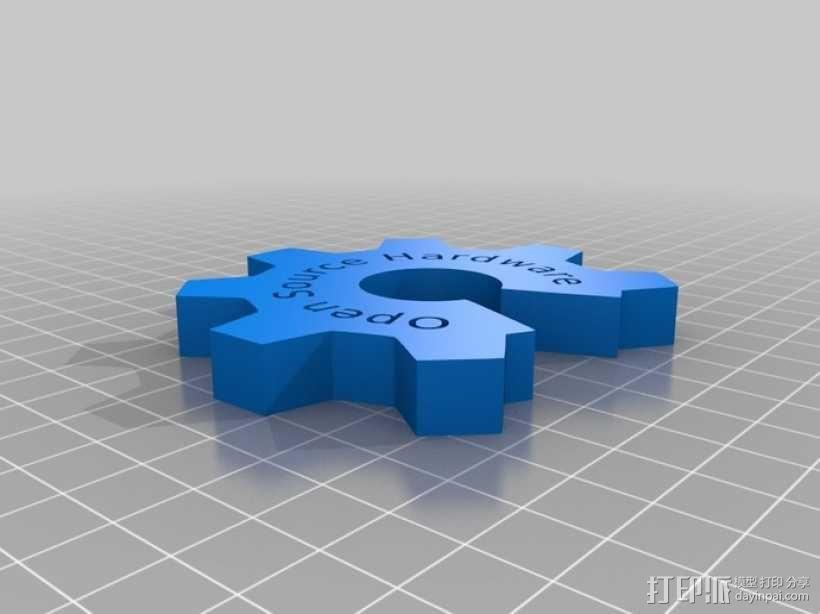 开源硬件标识 3D模型  图1