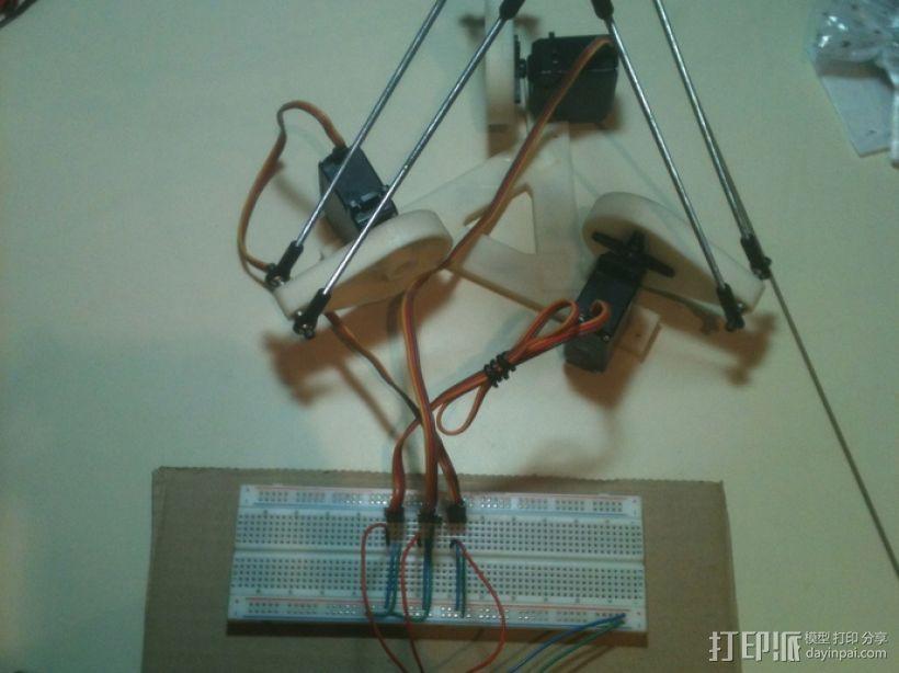三臂机器人 3D模型  图2