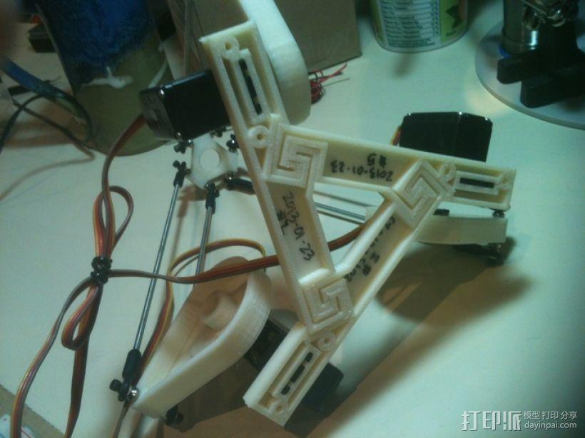 三臂机器人 3D模型  图3