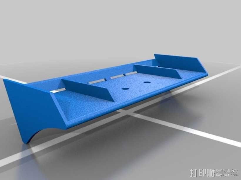 迷你尾翼板 3D模型  图1