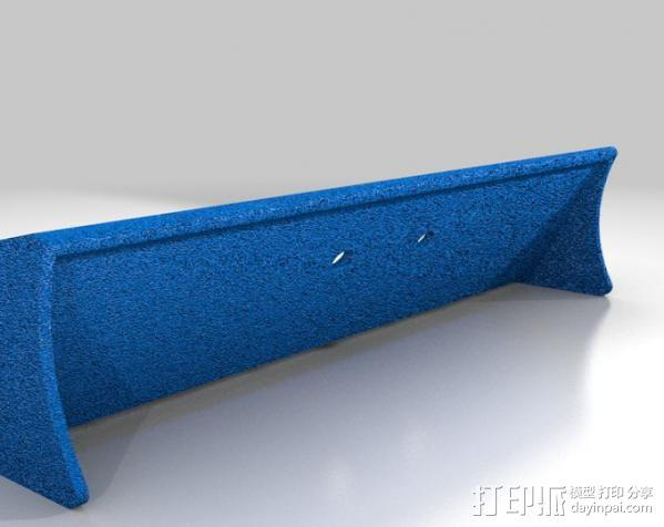 迷你尾翼板 3D模型  图2