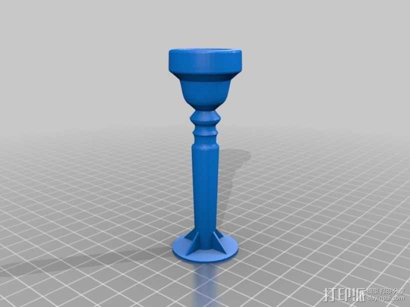 工作用小号喉舌 3D模型  图1