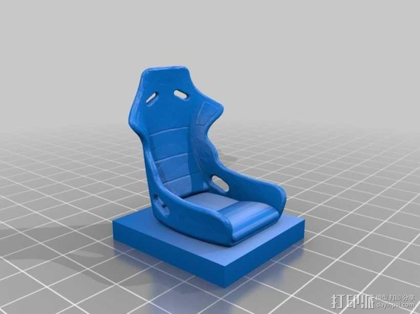 Recaro 车座 3D模型  图1