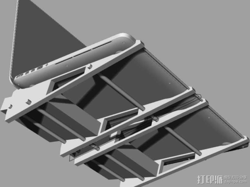 笔记本散热器 3D模型  图2