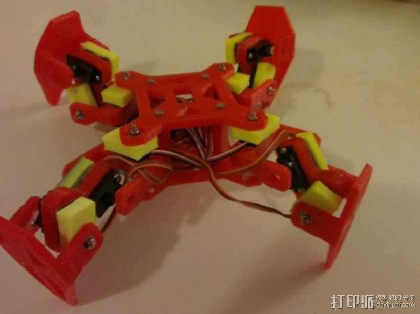 四足动物机器人 3D模型  图1