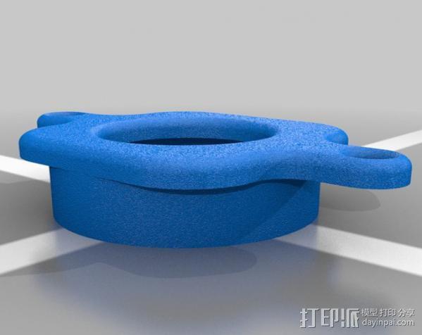 608衬托板 3D模型  图1