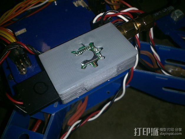 3DR无线电盒 3D模型  图1