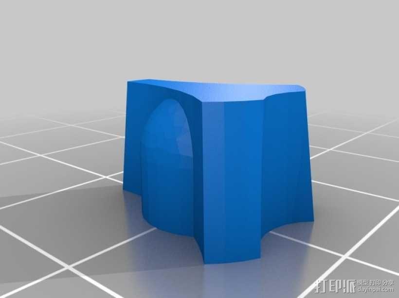 6mm旋转按钮 3D模型  图2