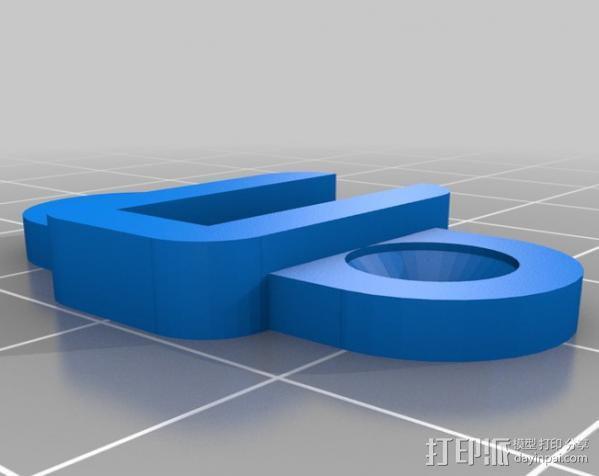 垂直板锚 3D模型  图3